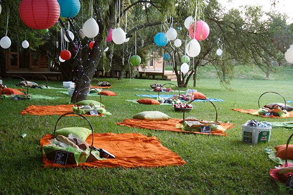 Вечеринки на природе идеи
