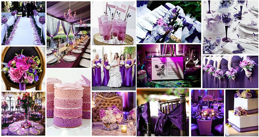 Свадьба фиолетового цвета фото оформление
