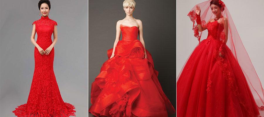 Уместно ли красное платье на свадьбу